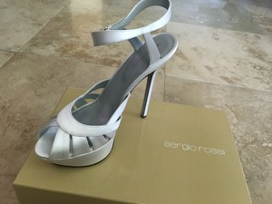 Sergio Rossi Wedding Satin Platform Heel Wedding Shoes