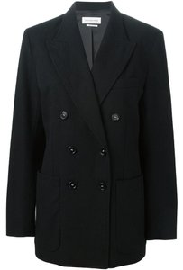 Isabel Marant Classic Wool Cotton Polished Navy Blue Jacket