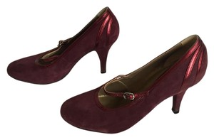 Fornarina Burgundy Suede Pumps