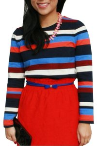 J.Crew Colorblock Long Sleeve T Shirt Multicolor