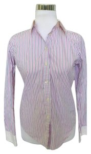 Ralph Lauren Pinstripe Career Button Down Shirt Pink