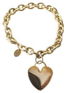 Cookie Lee Gold Chain Heart Charm Bracelet