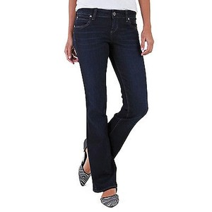 KUT from the Kloth Natalie Bootcut Dark Denim Cotton Blend Boyfriend Cut Jeans