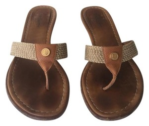 Erica Javits Saddle\Tan Sandals