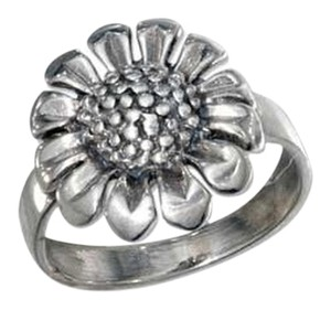 Sterling Silver Antiqued Sunflower Ring