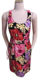 Banana Republic short dress Pink Floral Linen on Tradesy