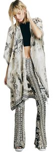 Free People Embroidered Silk Floral Print Cape