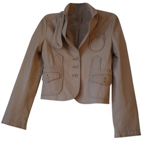 BCBGMAXAZRIA Leather beige/peach Blazer