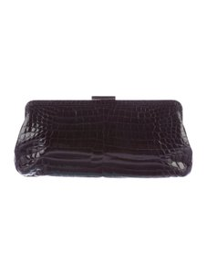Tiffany & Co. Crocodile Alligator Black Clutch