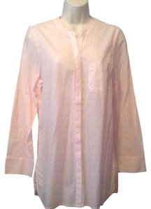 Joie Button Down Shirt Pink and white