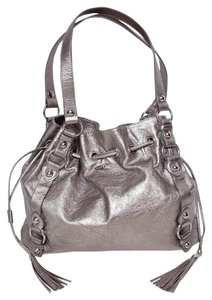 Elliott Lucca Silver Hardware Tassels Grommets Shoulder Bag