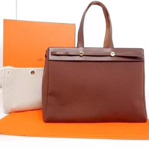 Hermès Tote in brown and Neutral