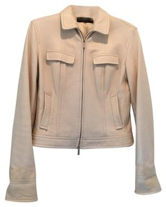 Donna Karan Off white. Leather Jacket