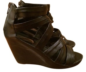 Steve Madden Sandal Black Wedges