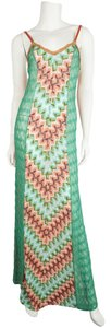 Turquoise & Peach Maxi Dress by Missoni