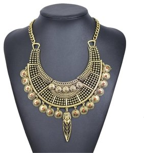 Other Pellet Fine Choker Lucky Indian Vintage Costume Jewelry Unique Metal Pendant Necklace