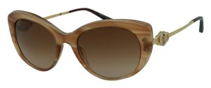 BVLGARI Brand New BULGARI 8141K Women Authentic Sunglasses Cat Eye 2015 Beige Gold Plated RETAIL $800