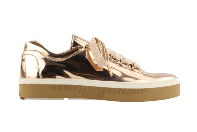 Item - Gold Gaming Lace Up Low Top Sneakers Size US 6 Regular (M, B)