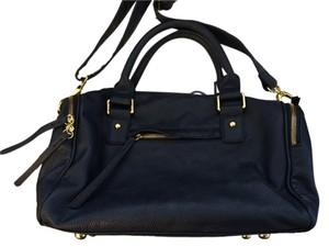 Navoh Crossbody Faux Leather Navy Summer Satchel in Navy Blue