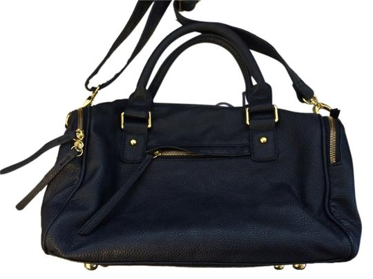 Navoh Crossbody Faux Leather Summer Satchel in Navy Blue