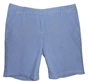 J.Crew Chino Seersucker Striped Bermuda Shorts BLUE/WHITE