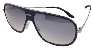 Carrera New Sunglasses CARRERA 88/S ZA1IC 62-12 Silver & Black Aviator Frame w/ Gray Gradient Lenses