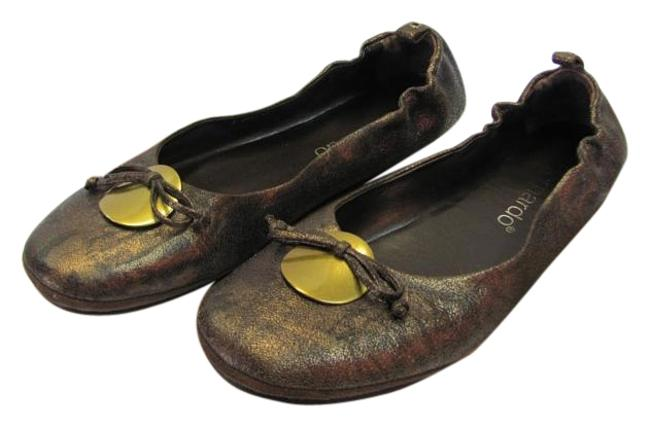 Brown and Bronze Very Good Condition Flats Size US 9 Narrow (Aa, N) Brown and Bronze Very Good Condition Flats Size US 9 Narrow (Aa, N) Image 1