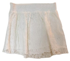 Aropostale Lacy Lace Sexy Mini Skirt white