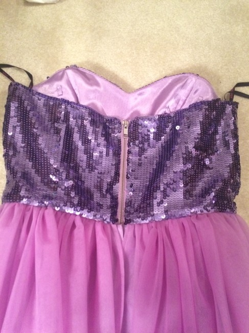 Betsey Johnson Sequins Sweetheart Tulle Formal Dress