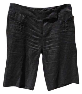 White House | Black Market Dress Shorts Black Linen