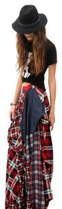 TOV Holy Maxi Skirt Multi Tartan Plaid