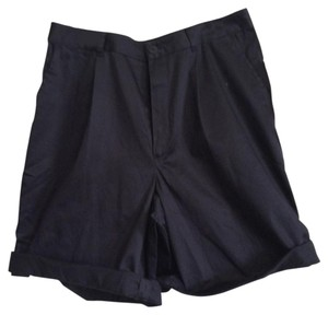 Dana Buchman Cuffed Shorts navy blue