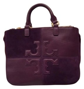 Tory Burch Satchel in Auburgine - Purple