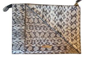 Kotur Snakeskin Slim Black/White/Grey Clutch