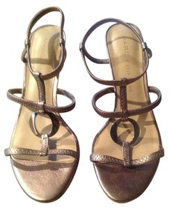 Marc Fisher Bronze Sandals