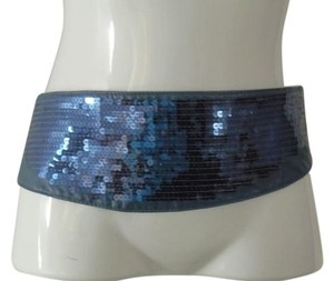 Other Hot in Hollywood Denim Friendly Blue sequin Obi Belt Size 1x/2x NWT