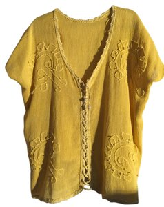Mexican hand made Top Yellow