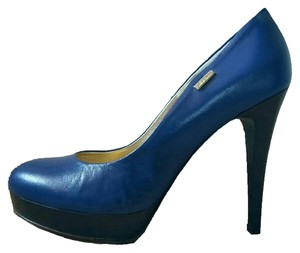Gianfranco Ferre Platforms Ferre Platforms Wood Heel Blue Pumps