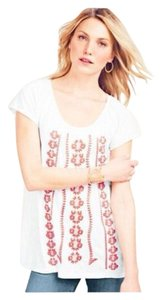 Garnet Hill Embroidered Cotton Tunic