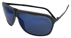 PORSCHE DESIGN New PORSCHE DESIGN Sunglasses P'8618 B P'86BF V Grey & Black Frame w/ Blue Mirror