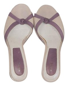 Marc Jacobs Darling Retro Cream with Lavender Detail Mules