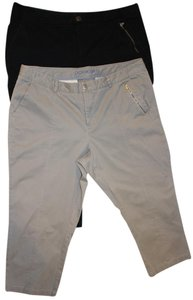Dockers Zipper Capris Black and Grey/putty