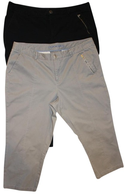 Preload https://img-static.tradesy.com/item/15821635/dockers-black-and-greyputty-two-pair-greyputty-with-zipper-detail-capris-size-16-xl-plus-0x-0-1-650-650.jpg