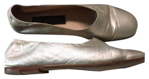 Donna Karan Soft Leather Flat gold Flats