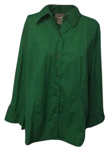 Chadwicks Button Down Shirt Green