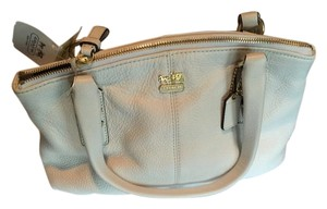 Coach Satchel in Parchment/White