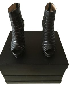 Hervé Leger black and gold Boots
