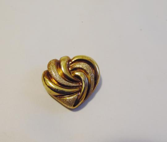 Veronese Collection Veronese Collection 18kt Gold Clad Polish Texture Heart Enhancer