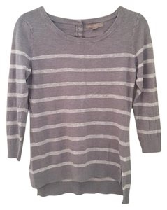 Banana Republic Striped Quarter Sleeve And White Sweater