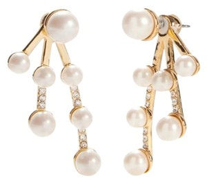 Kate Spade kate spade new york Purely Pearly Front To Back Earrings gold plated